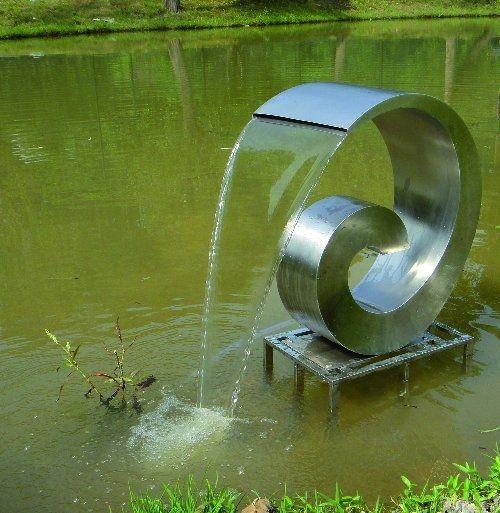 Edelstahl Wasserspiel Loop - Gartencenter Holzum