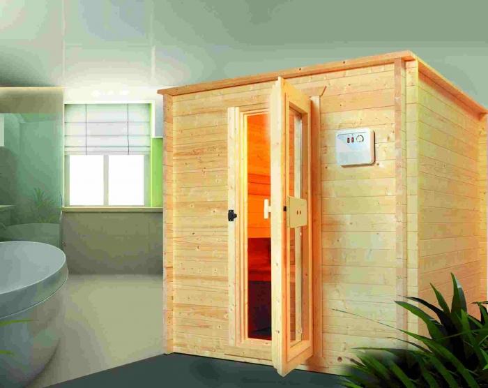 blockbohlensauna aus nordische fichte gartencenter holzum. Black Bedroom Furniture Sets. Home Design Ideas