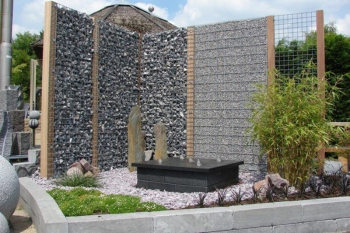 Gabionen Stein Korb fertig montiert  Gartencenter Holzum