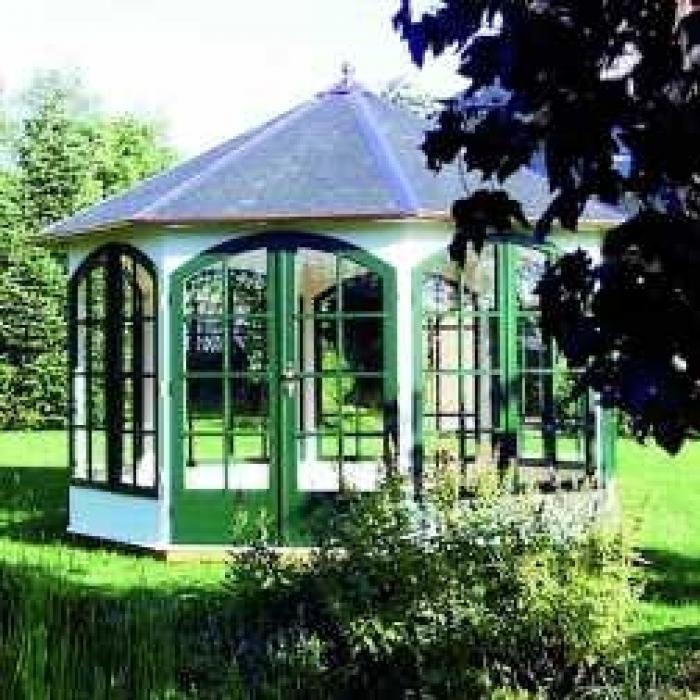 pavillon piazza premium 8 eck durchmesser 400 cm. Black Bedroom Furniture Sets. Home Design Ideas